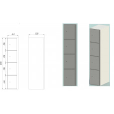 Deposit lockers DS.165.4